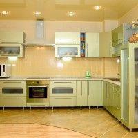 кухонные гарнитуры оливкового цвета