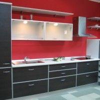 кухонный гарнитур с фасадами из ЛДСП венге