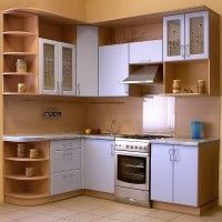 кухонные гарнитуры сиреневого цвета фото
