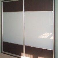 комбинированный шкаф-купе 2 двери лдсп матовое стекло