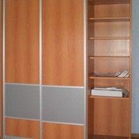 простой комбинированный шкаф-купе лдсп матовое стекло