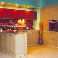 кухонные гарнитуры фото с барной стойкой