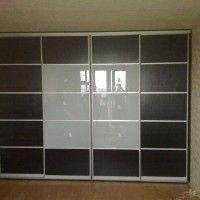 встроенный шкаф купе 4 комбинированные двери с перемычками