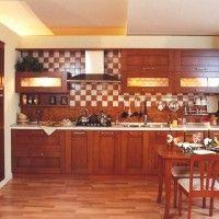 темная кухня с духовым шкафом встроенным отдельно