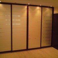 встроенный шкаф купе 4 двери с пескоструем