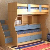 детская двухуровневая кровать
