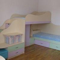 купить двухъярусную детскую кровать