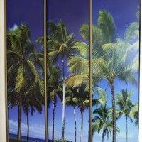 трехдверный шкаф-купе фотопечать пальмы