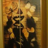 двухдверный шкаф-купе фотопечать бабочки