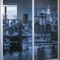 шкаф-купе 3 двери стекло черно-белая фотопечать мост