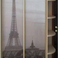 двухдверный шкаф купе фотопечать эйфелева башня