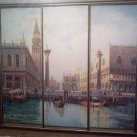 прямой шкаф-купе 3 двери фотопечать венеция