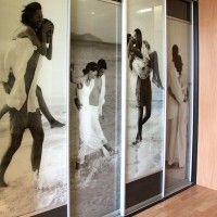 прямой шкаф купе четыре двери фотопечать люди