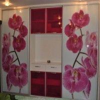 шкаф-купе с фотопечатью орхидеи