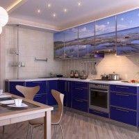 угловой кухонный гарнитур фотопечать море