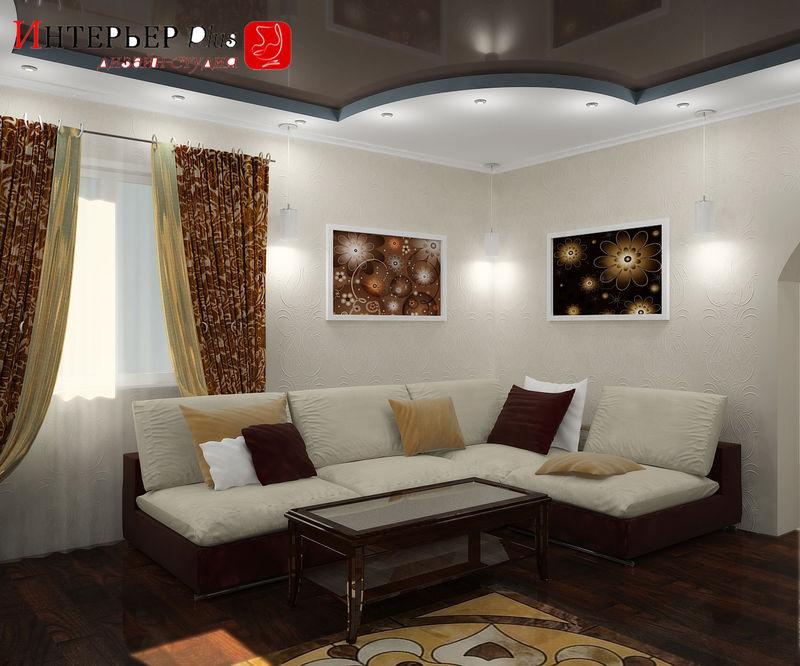 Дизайн ремонта зала в частном доме