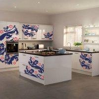 белая кухня фотопечать на фасадах