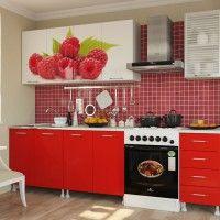 кухонный гарнитур в хрущевку фотопечать малина