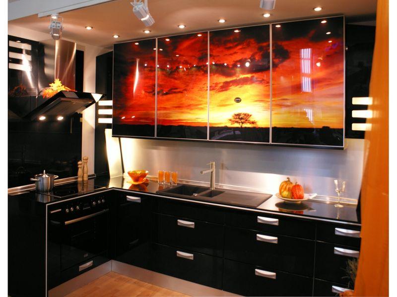 Фотопечать на фасадах кухни фото