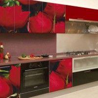 кухонный гарнитур фотопечать розы