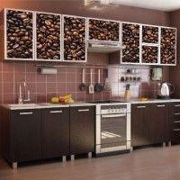 кухонный гарнитур с фотопечатью кофе