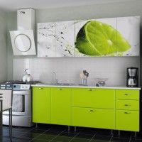 кухонный гарнитур фотопечать лайм