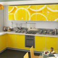 кухонный гарнитур фотопечать лимон