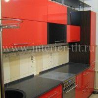 кухонные гарнитуры черно красные