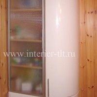 белые кухонные гарнитуры с радиусными фасадами