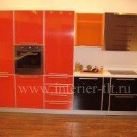 кухонные гарнитуры красного цвета фото