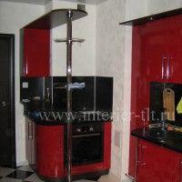 глянцевые кухонные гарнитуры с барной стойкой фото
