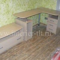 компьютерный стол с полками вид2
