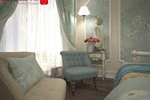 голубая спальня дизайн фото