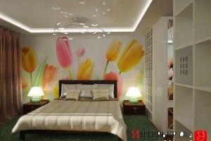 дизайн спальни с фотообоями фото