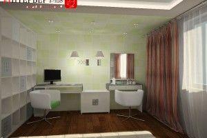 кабинет в спальне дизайн