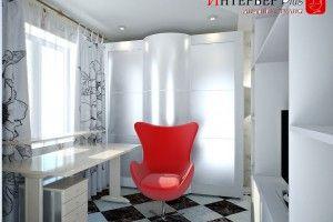 дизайн интерьера с креслом яйцо