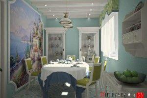 стиль средиземноморский в интерьере столовой
