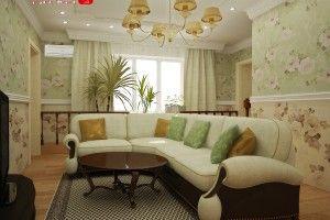 гостиная в английском стиле фото