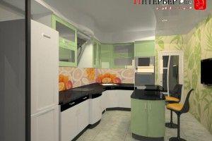 кухонные гарнитуры зеленого цвета фото