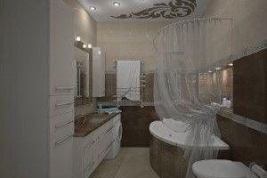 коричневая ванная комната дизайн фото