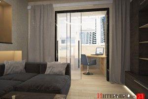 дизайн комнаты объединенной с балконом