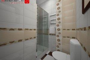 дизайн душевой комнаты с унитазом