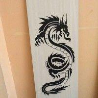 печать рисунка на ЛДСП дракон