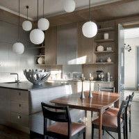 варианты освещения зоны столовой
