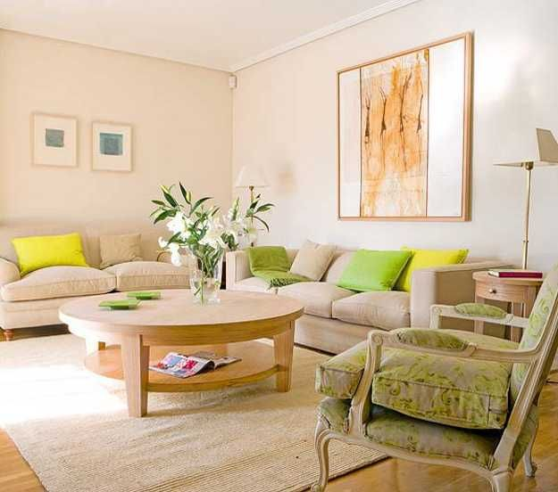green-color-spring-decor-living-room-design-1