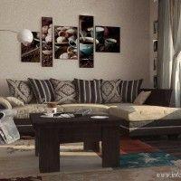 угловой диван в интерьере