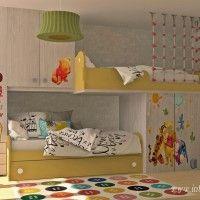 кровать чердак в интерьере детской комнаты