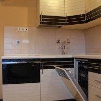 бежево коричневый кухонный гарнитур