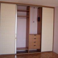 встроенный белый шкаф купе 4 двери из лдсп