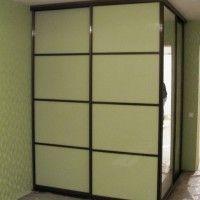 двухдверный шкаф купе матовое стекло с перемычками